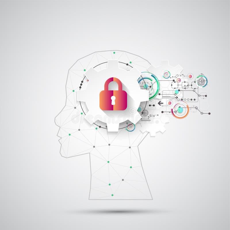 De achtergrond van het intellectuele eigendomconcept Vector vector illustratie