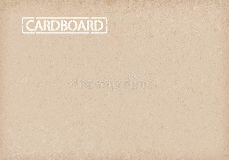 De achtergrond van het karton Verpakkend document vector illustratie