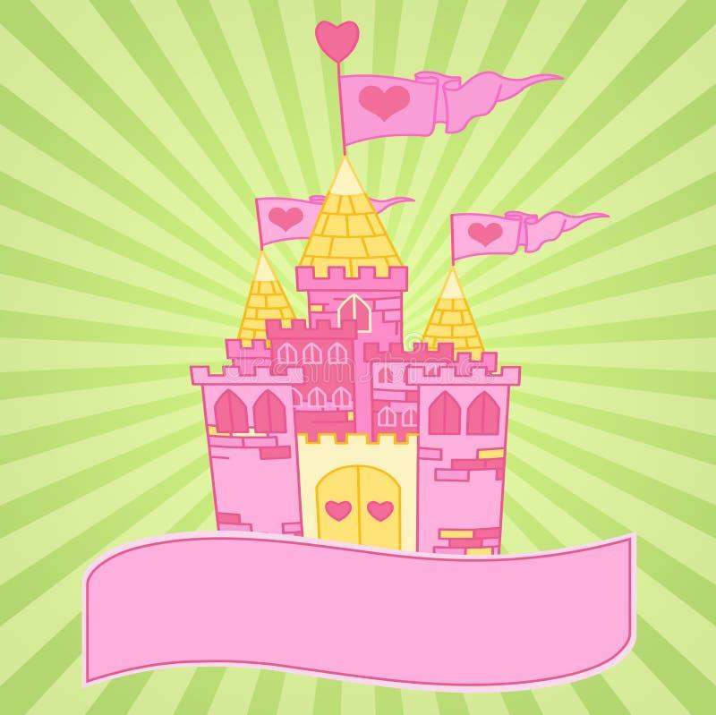De achtergrond van het kasteel stock illustratie