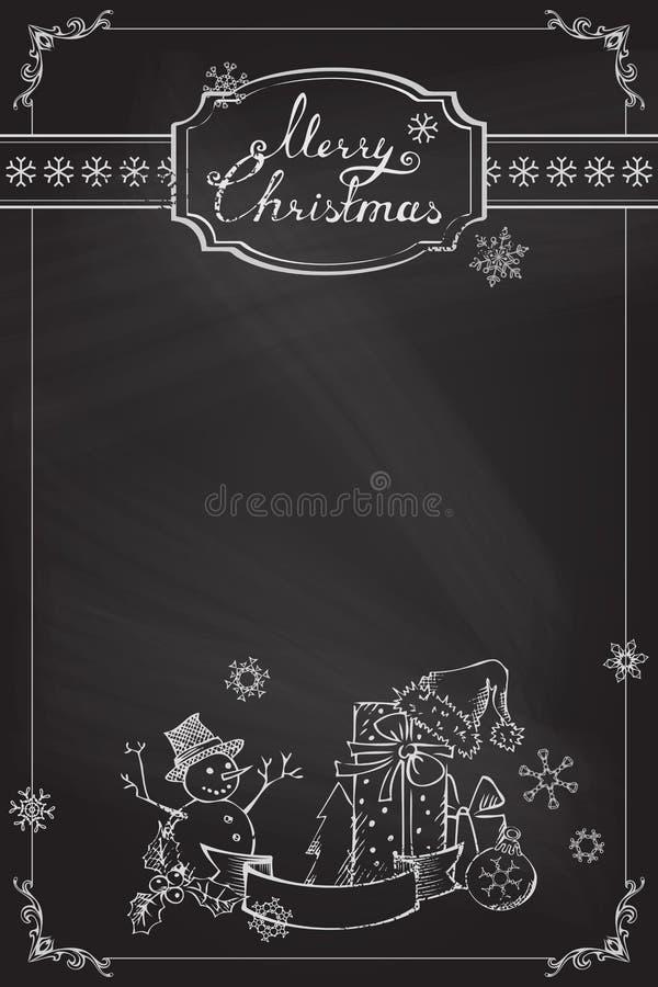 De achtergrond van het Kerstmisbord royalty-vrije stock foto