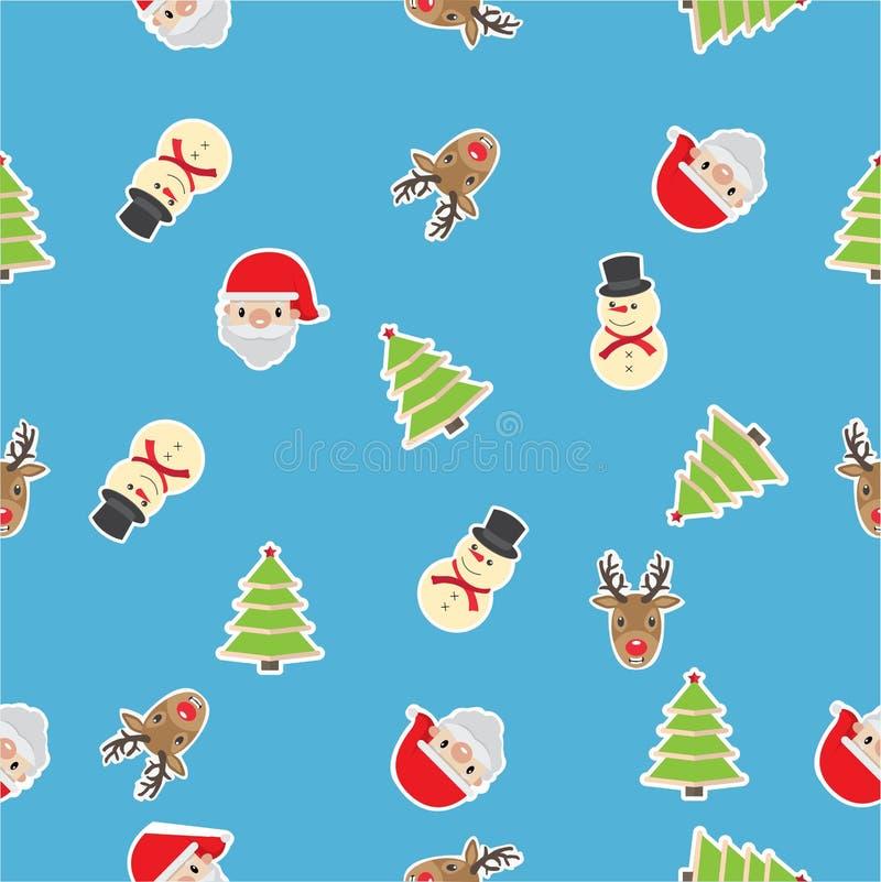 De achtergrond van het Kerstmispatroon vector illustratie