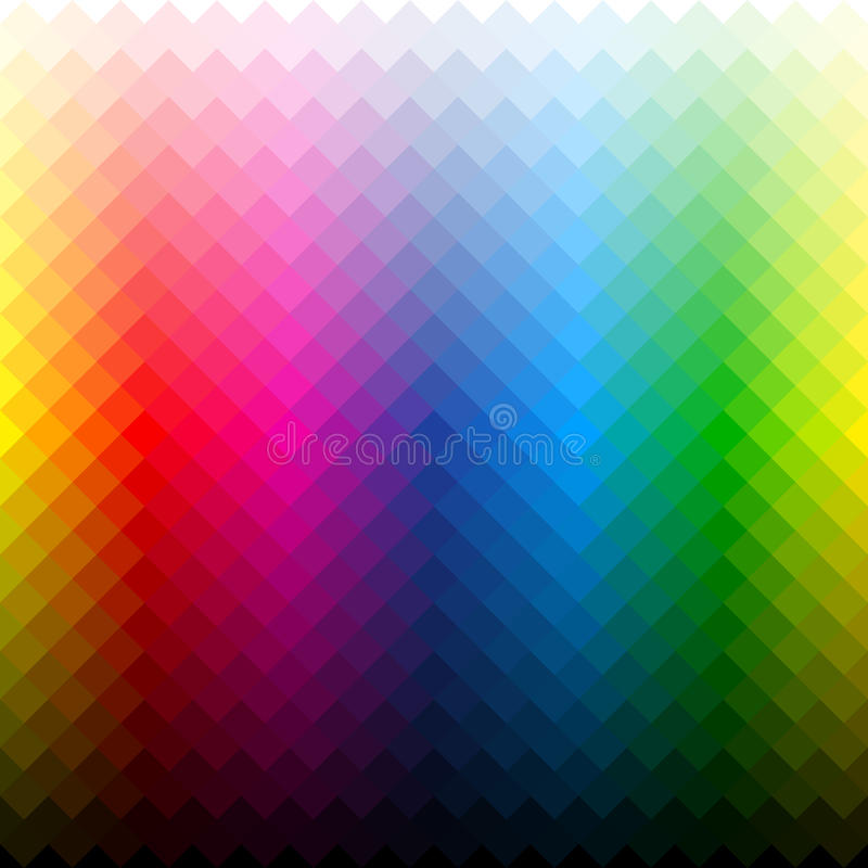 De achtergrond van het kleurenpalet vector illustratie