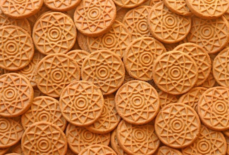 De achtergrond van het koekje stock afbeelding