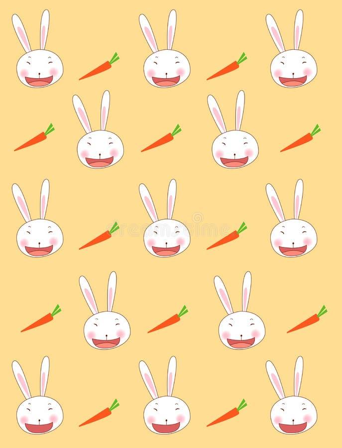 De achtergrond van het konijn stock illustratie