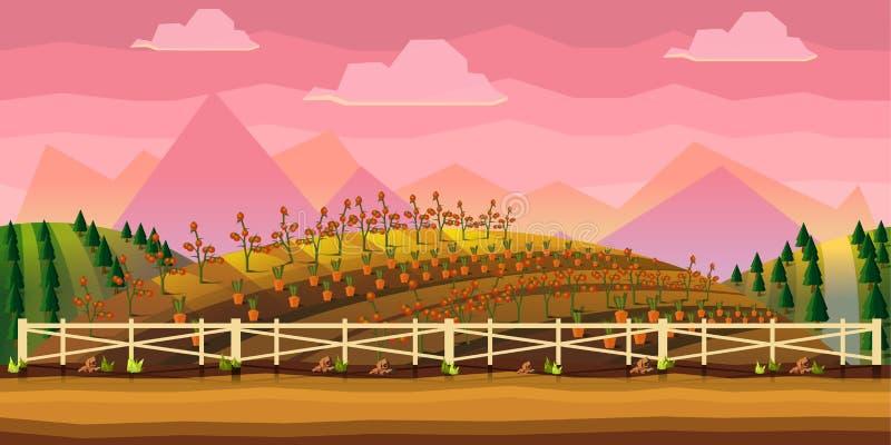 De Achtergrond van het landbouwbedrijfspel royalty-vrije illustratie