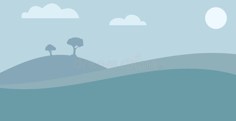 Landschapsachtergrond royalty-vrije stock foto's
