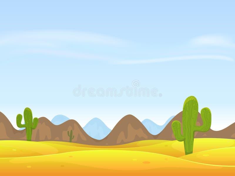 De Achtergrond van het Landschap van de woestijn royalty-vrije illustratie