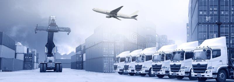De achtergrond van het logistiekvervoer royalty-vrije stock foto