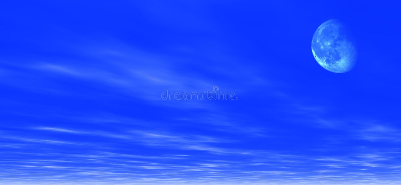 Download De Achtergrond Van Het Maanlicht Stock Illustratie - Illustratie bestaande uit maan, wolken: 41245