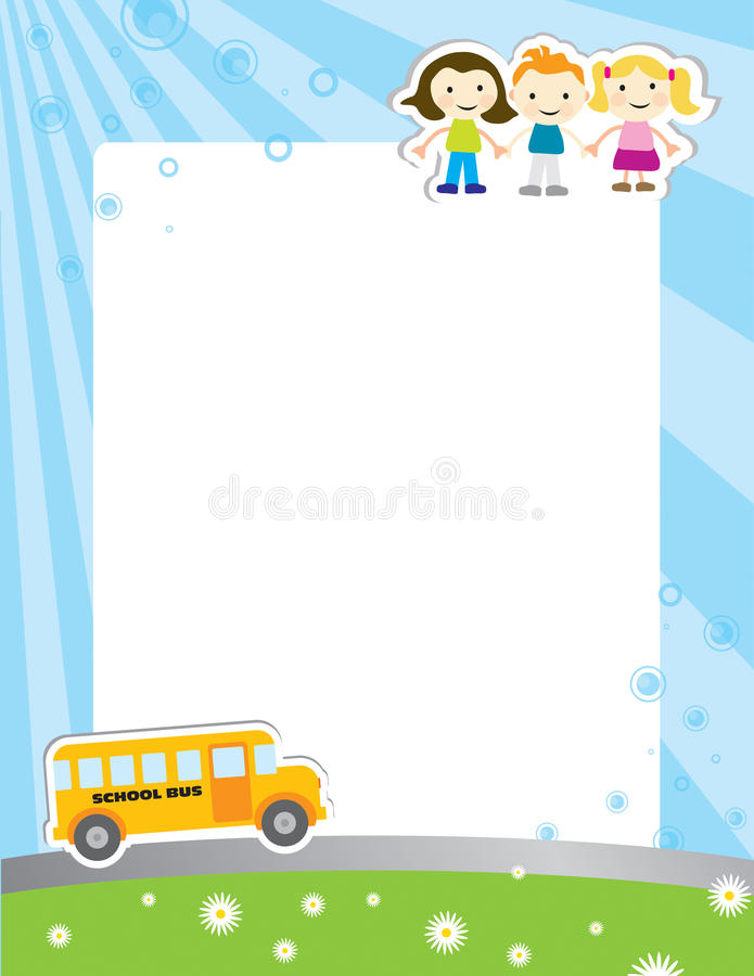 De achtergrond van het malplaatje voor schoolaffiche vector illustratie