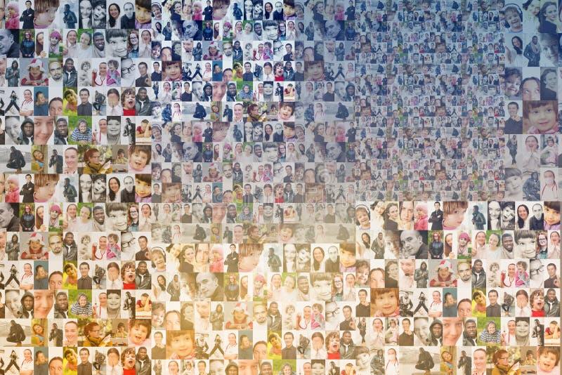 De achtergrond van het mensenmozaïek royalty-vrije stock foto