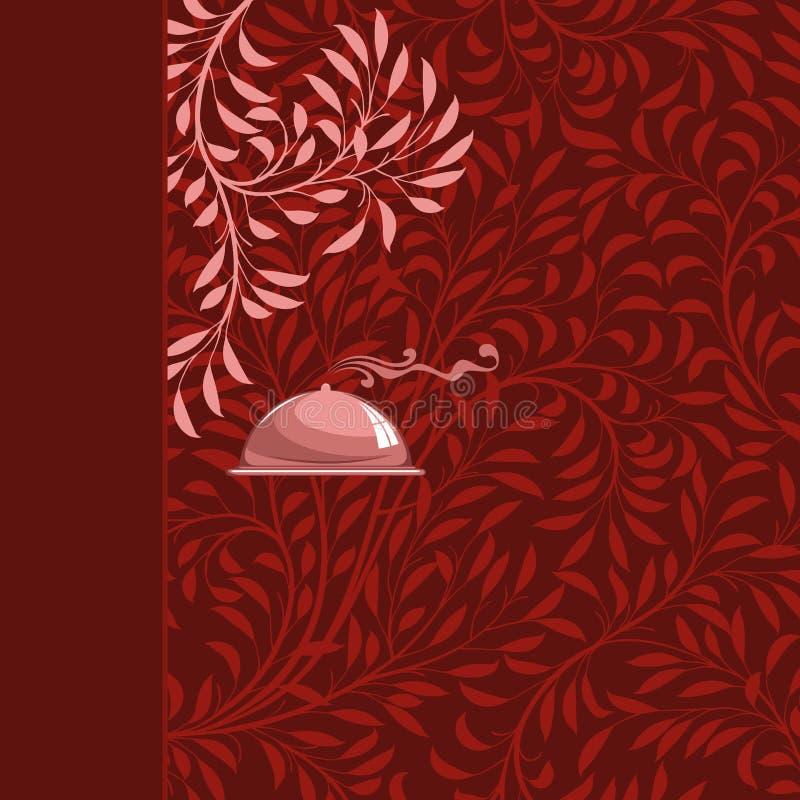 De achtergrond van het menu royalty-vrije illustratie