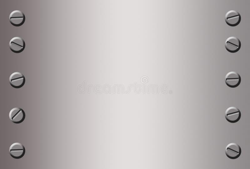 De achtergrond van het metaal vector illustratie