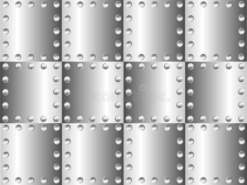 De achtergrond van het metaal royalty-vrije illustratie