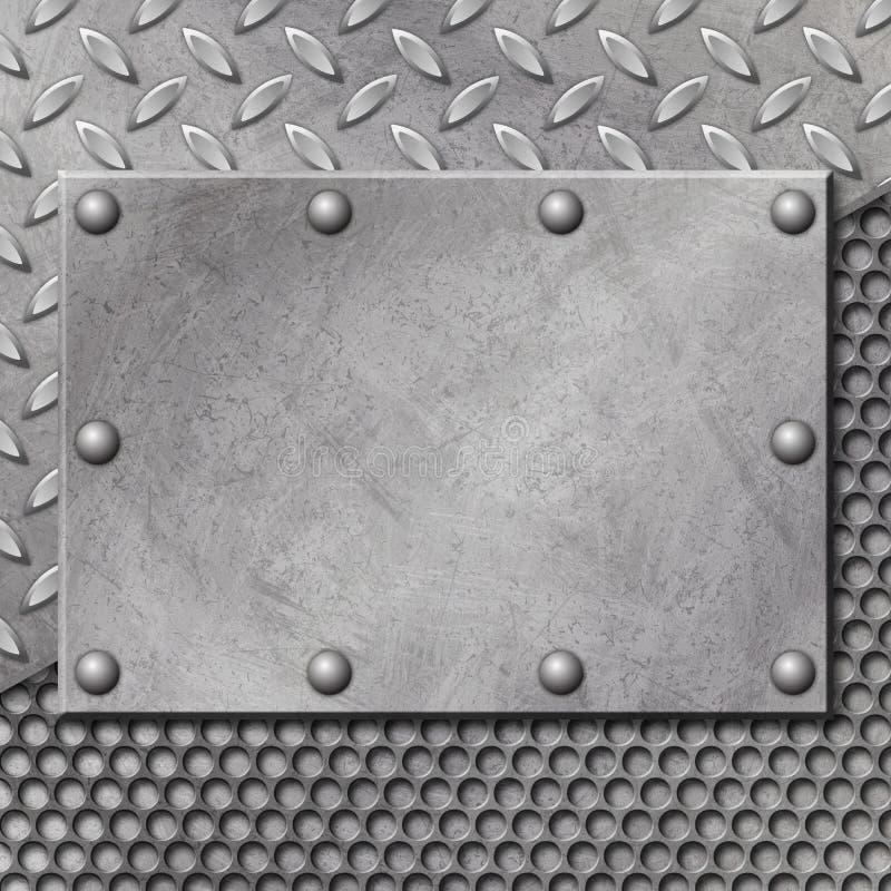 De Achtergrond van het Metaal van Grunge vector illustratie