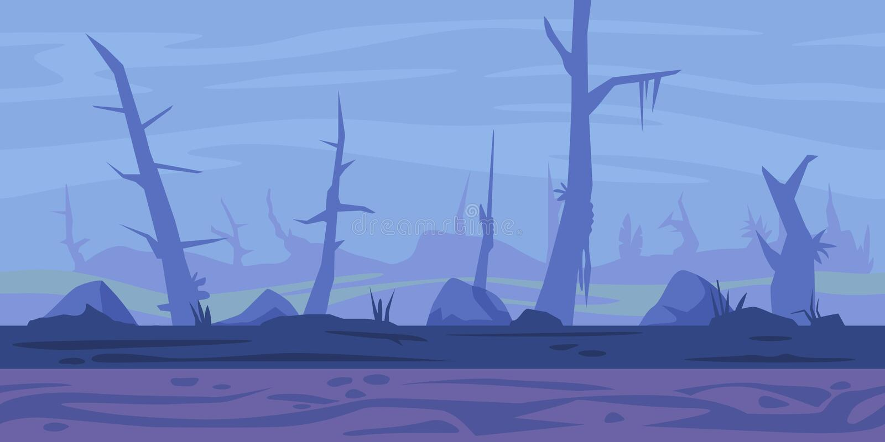 De Achtergrond van het moerasspel vector illustratie