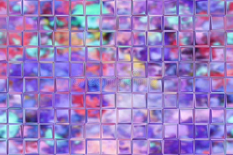 De achtergrond van het mozaïek met glas/metaaleffect royalty-vrije illustratie