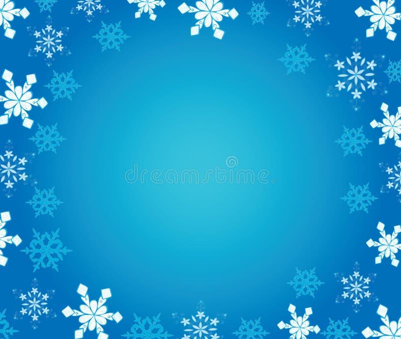 De achtergrond van het nieuwjaar met sneeuwvlokken. stock afbeelding