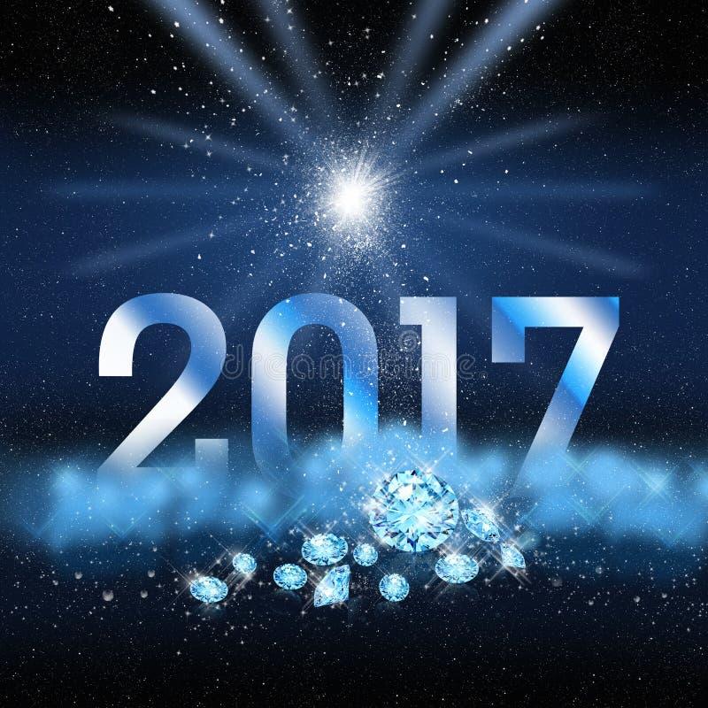 De achtergrond van het nieuwjaarskaartontwerp vector illustratie