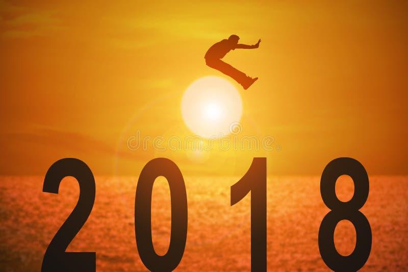 2018 de achtergrond van het nieuwsjaar stock foto's