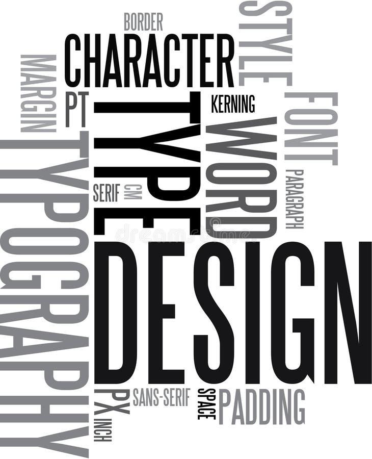 De achtergrond van het ontwerp en van de typografie royalty-vrije illustratie