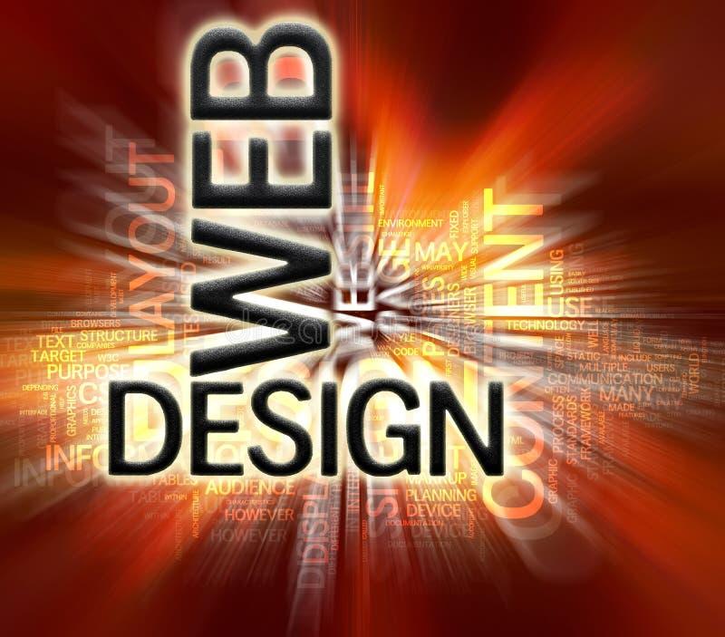 De Achtergrond van het Ontwerp van het Web vector illustratie