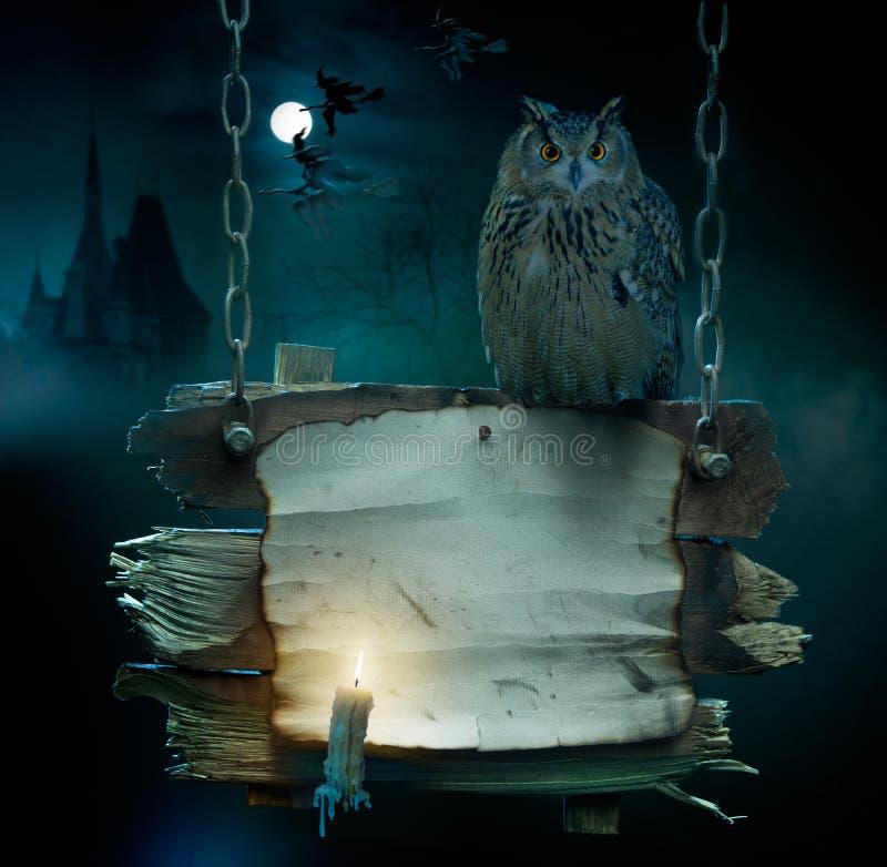 De achtergrond van het ontwerp voor de partij van Halloween stock illustratie