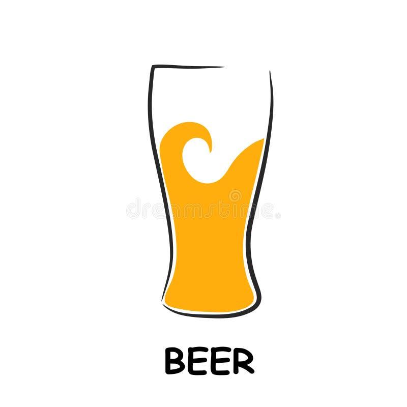 De achtergrond van het het ontwerpmenu van het bierglas vector illustratie