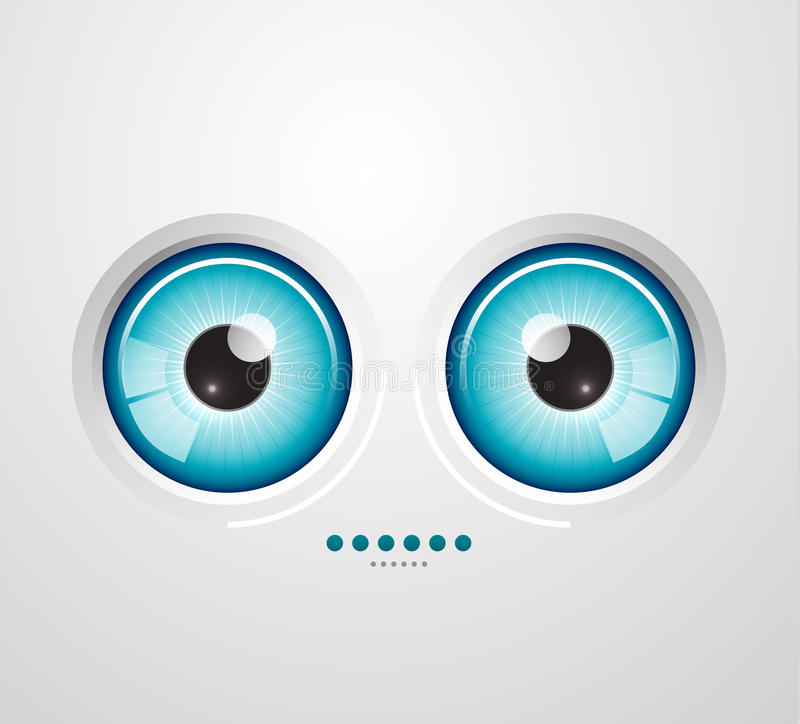 De achtergrond van het oog stock illustratie