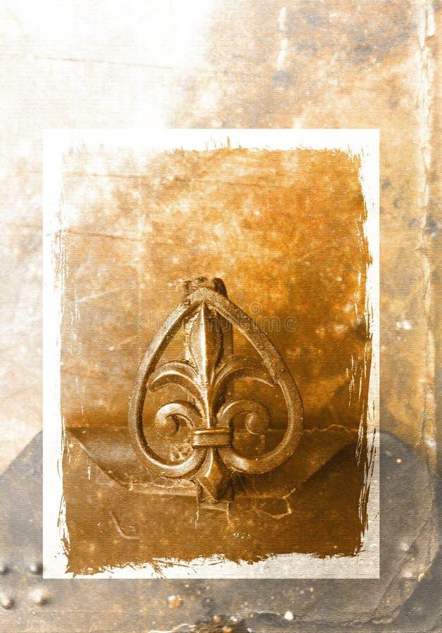 De achtergrond van het Ornament van Grunge stock illustratie