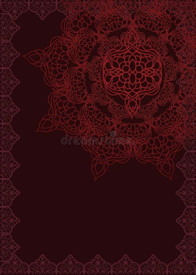 De achtergrond van het ottomanepatroon vector illustratie