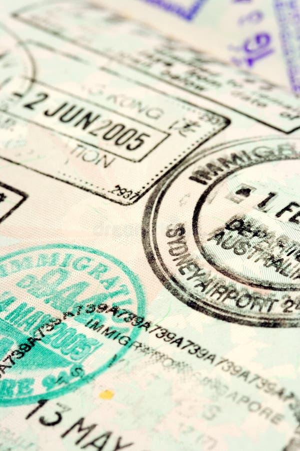 De achtergrond van het paspoort stock foto's