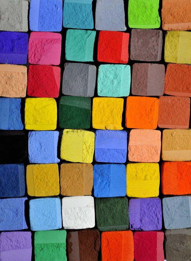 De achtergrond van het pastelkleurkrijt stock foto's