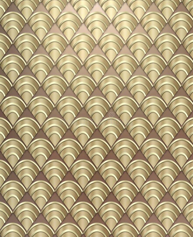 De Achtergrond van het Patroon van het art deco stock foto