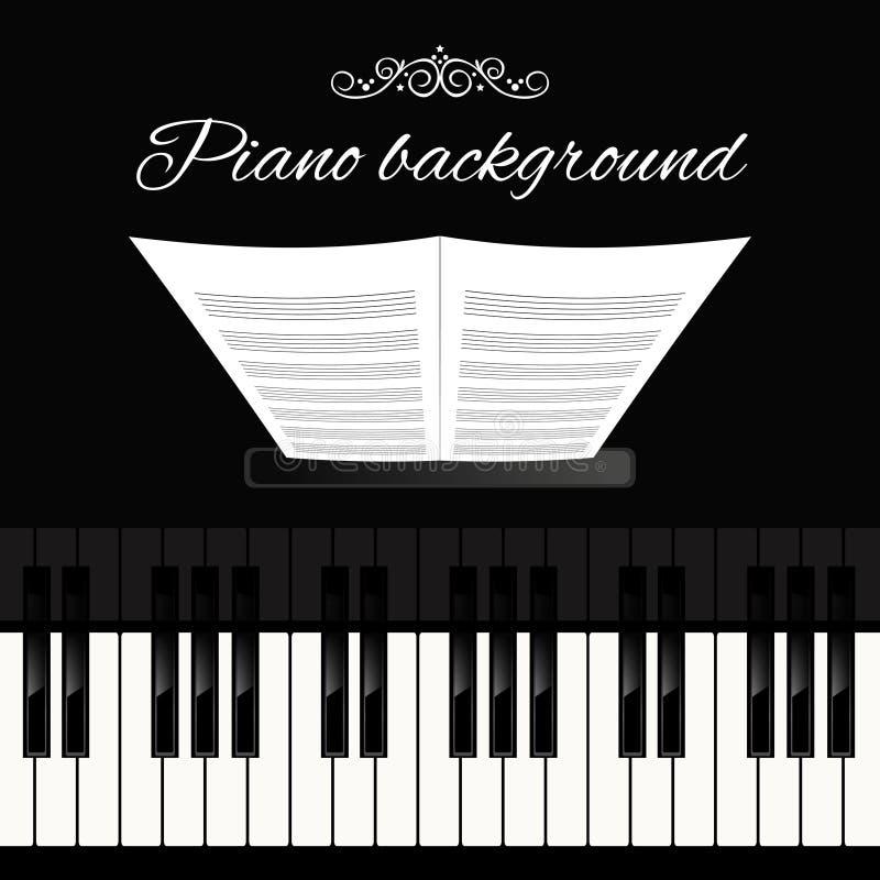 De achtergrond van het pianotoetsenbord stock illustratie