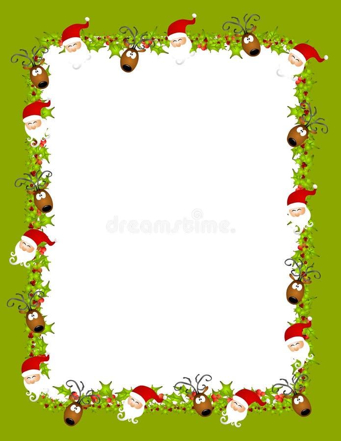 De Achtergrond van het Rendier van de kerstman royalty-vrije illustratie