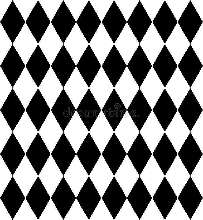 De achtergrond van het ruitschaak in zwart-wit Naadloze patroonachtergrond Vector illustratie royalty-vrije illustratie