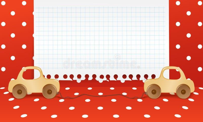 De achtergrond van het speelgoed royalty-vrije illustratie