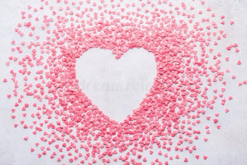 De achtergrond van het suikergoedhart voor de Dag van Valentine De ruimte van het exemplaar stock afbeelding