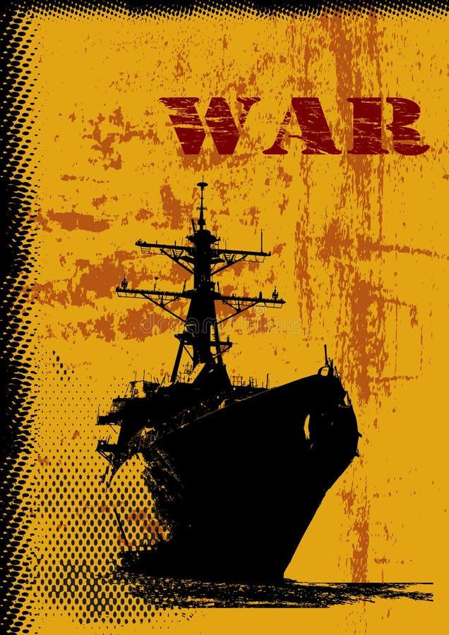 De Achtergrond van het Thema van de oorlog royalty-vrije illustratie