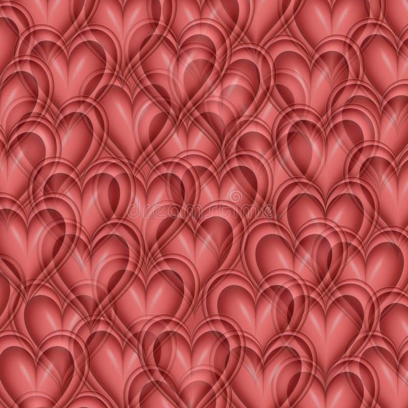 de achtergrond van het valentijnskaartenHart vector illustratie