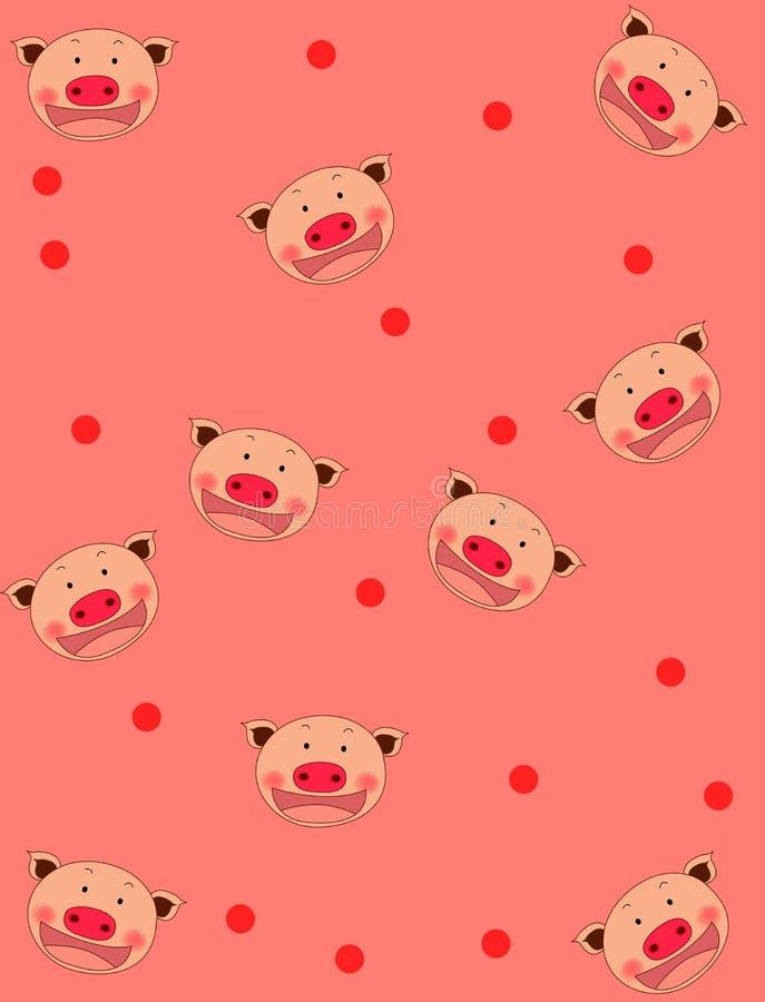 De achtergrond van het varken royalty-vrije illustratie