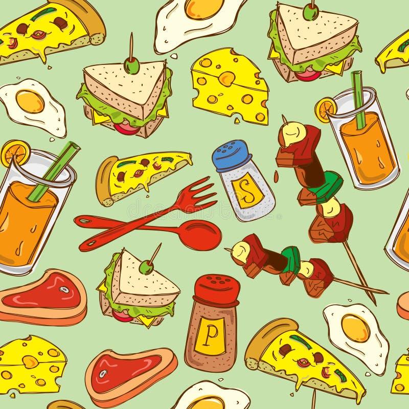 De achtergrond van het voedsel vector illustratie