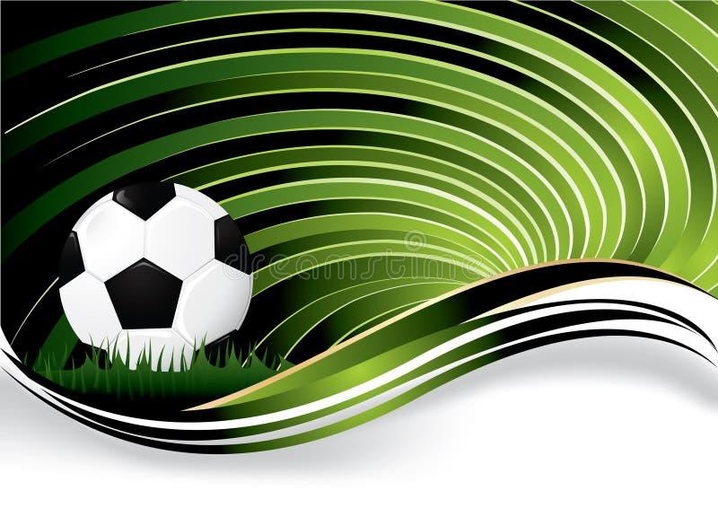 De achtergrond van het voetbal vector illustratie