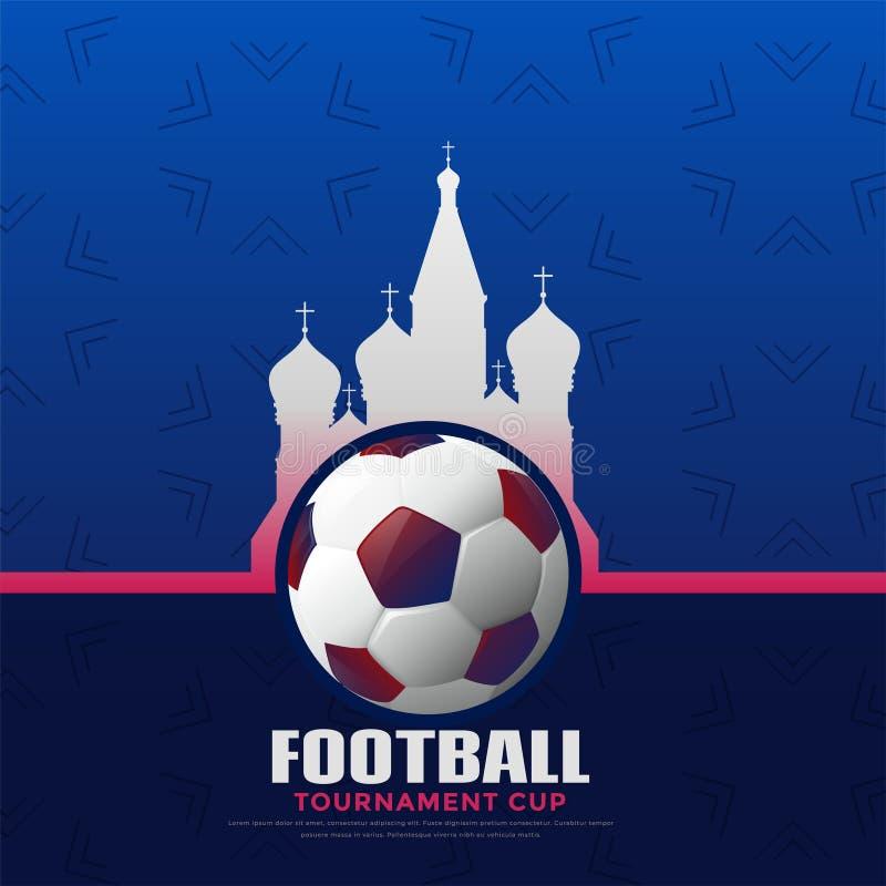 De achtergrond van het de voetbalkampioenschap van Rusland 2018 royalty-vrije illustratie