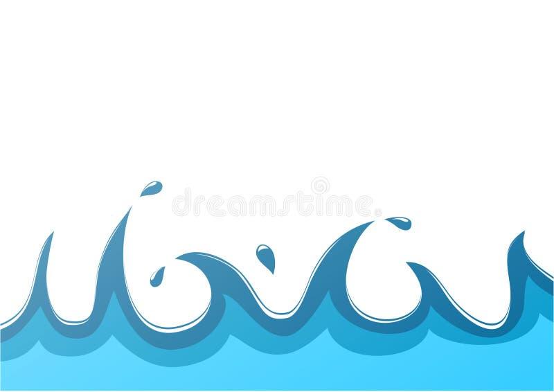 De achtergrond van het water royalty-vrije illustratie