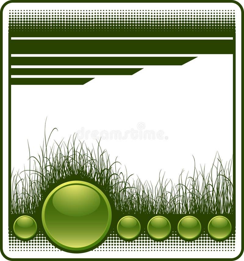 De achtergrond van het Web met gras royalty-vrije illustratie