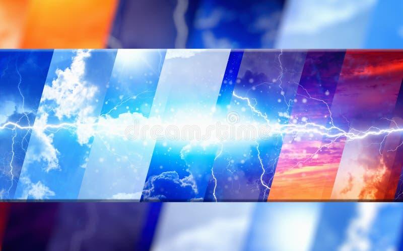 De achtergrond van het weervoorspellingsconcept vector illustratie