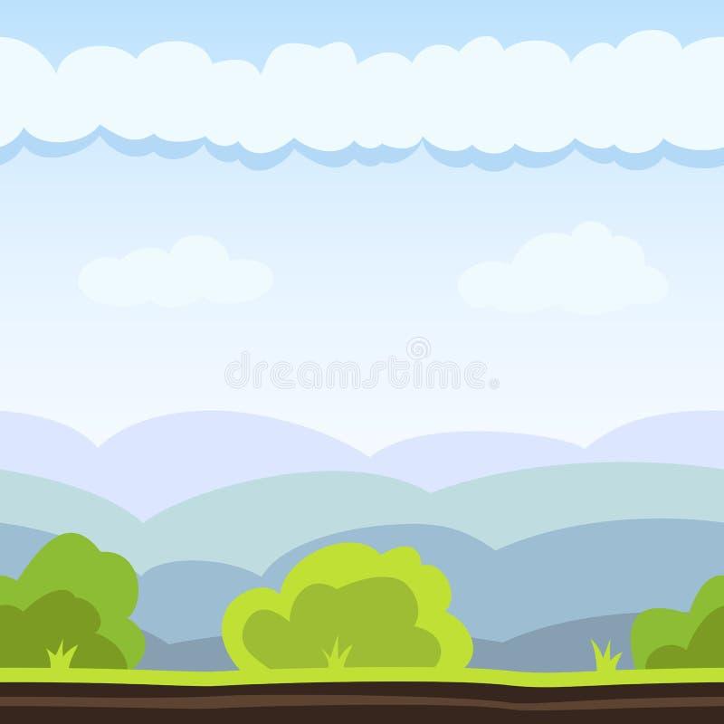 De Achtergrond van het weidespel stock illustratie