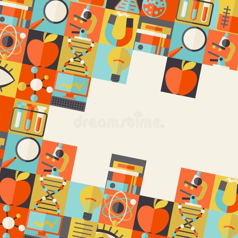 De achtergrond van het wetenschapsconcept in vlakke ontwerpstijl vector illustratie